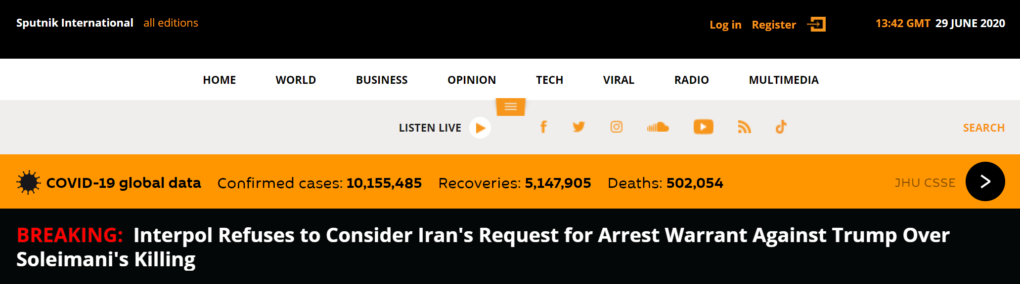 伊朗向特朗普发逮捕令 国际刑警:不考虑伊朗的请求