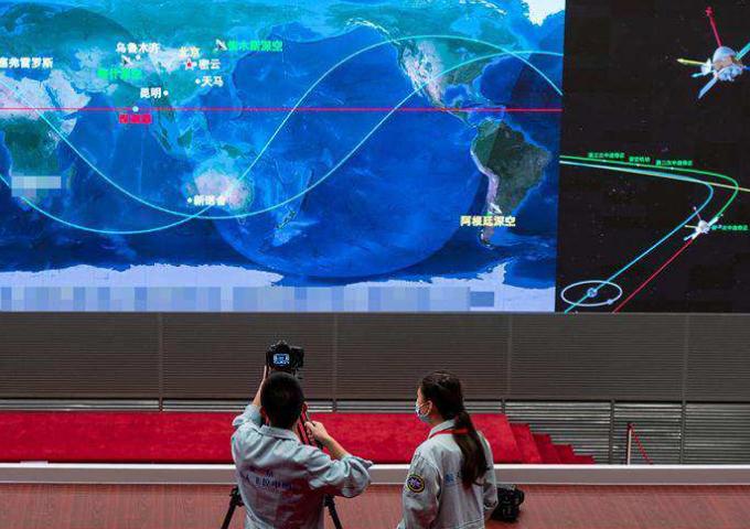 """""""天文1号""""探测器完成了第一轨道的中途修正"""
