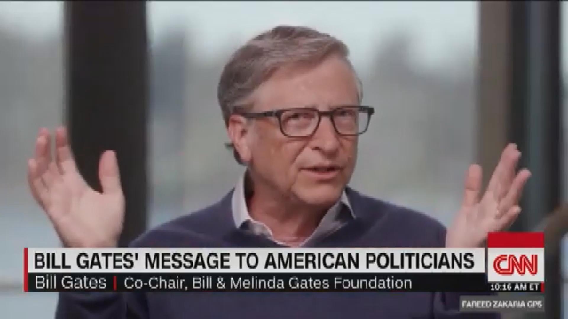 """比尔·盖茨说新冠肺炎在美国的测试存在一个""""令人震惊的""""问题。"""