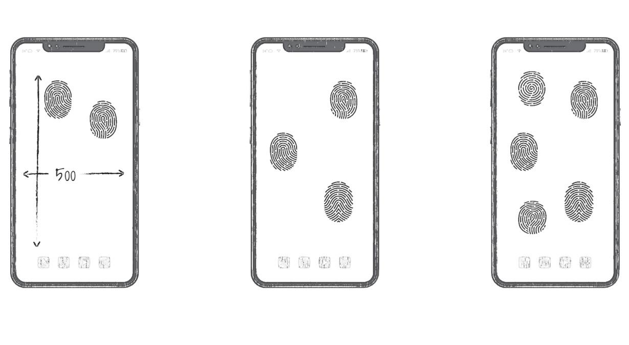 为申请全屏指纹解锁专利 回短信之前不用先解锁了