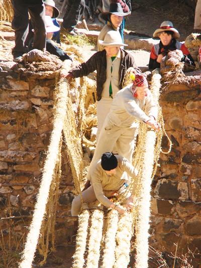 秘鲁草绳吊桥:原始性的另一种表现