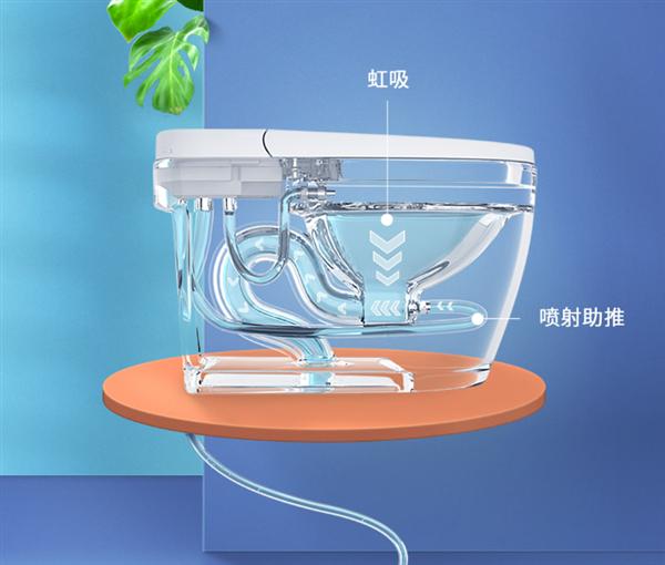 小米有品的小鲸洗智能马桶上线了:离座自动冲水 ,售价999元
