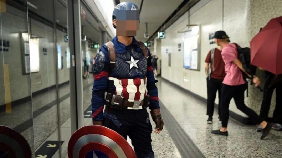 """""""美国队长""""在香港被逮捕"""