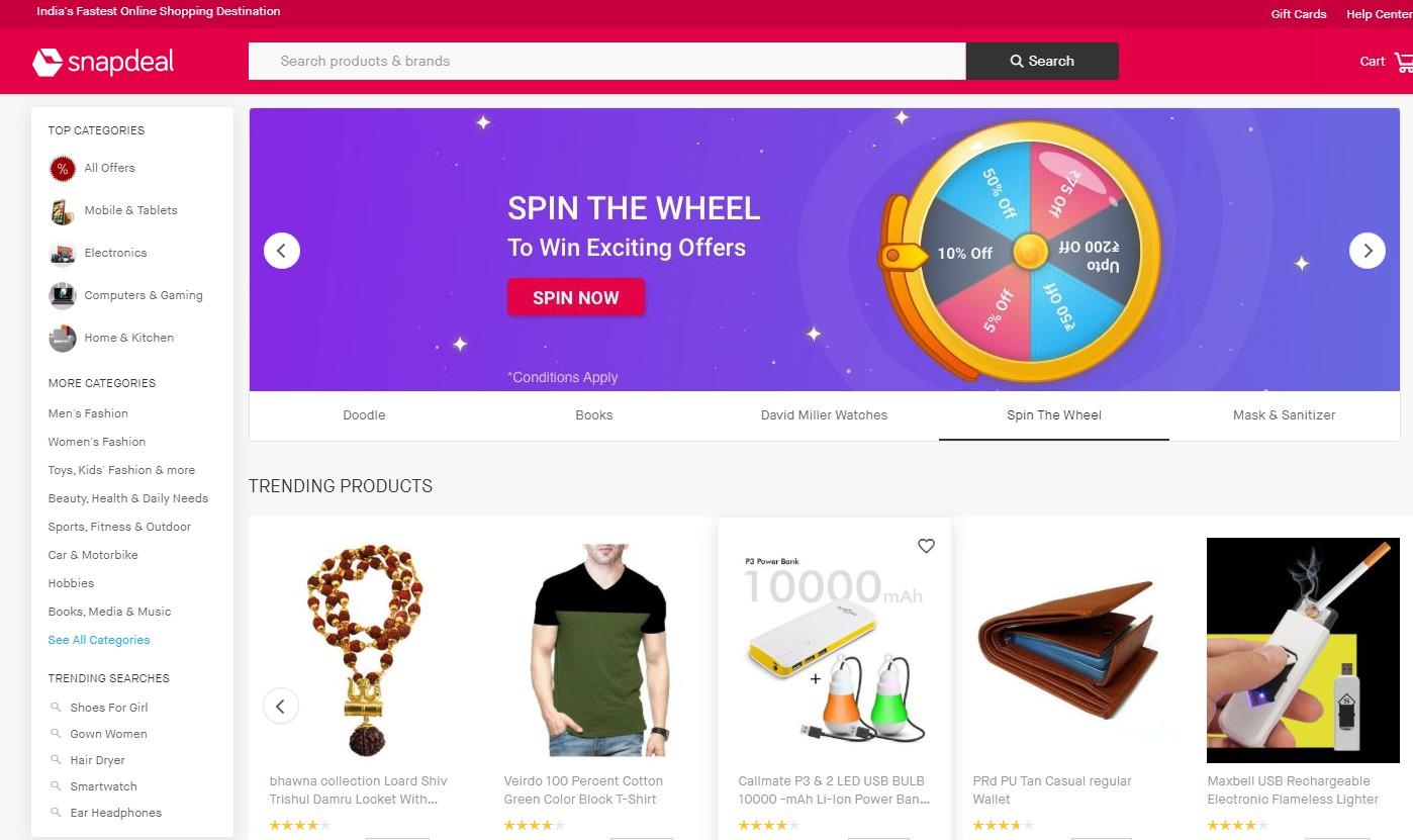 印度电子商务平台Snapdeal排灯节将于10月16日开幕