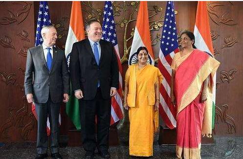印度媒体:美印2+2会谈聚焦军事合作