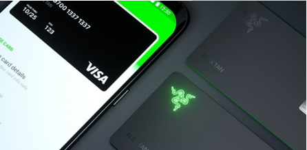 RazerCard的标志在你每次购物时都会亮起来
