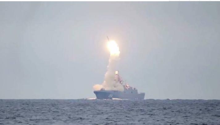 俄罗斯成功试射锆石超音速导弹