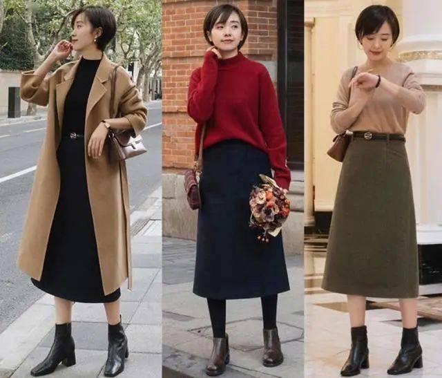 5种秋冬半身裙实用穿法,照搬穿也不赖!