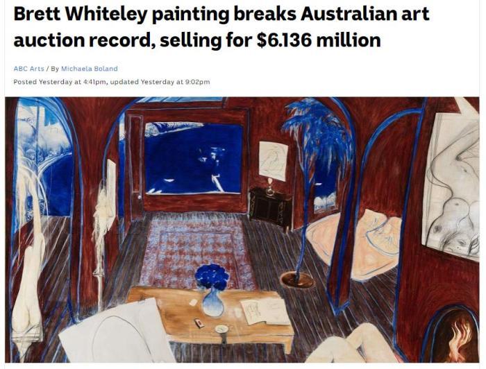 打破澳艺术品拍卖价格纪录!这幅画卖了六百多万澳元