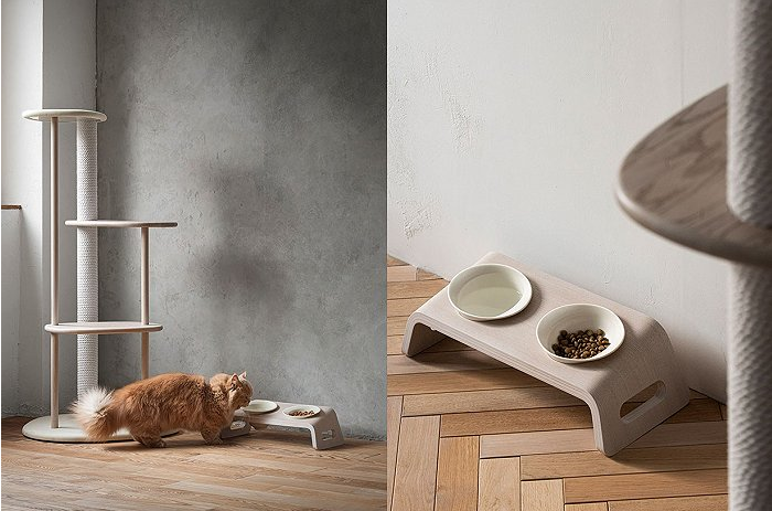 """日本传统木家具品牌带来""""猫桌"""""""