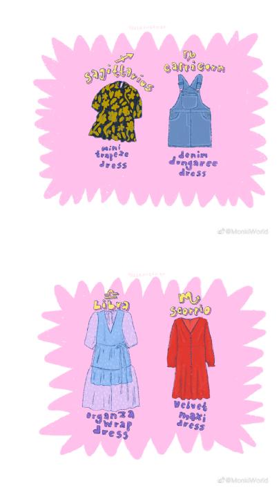与十二星座相对应的Monki连衣裙,看看你的风格如何?