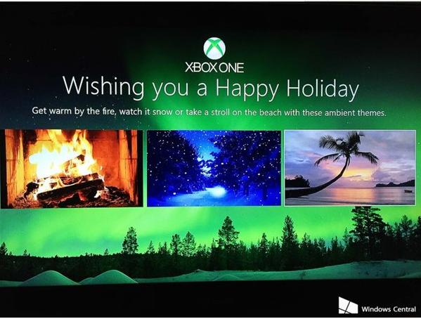 酷,XboxOne改为圣诞节主题背景