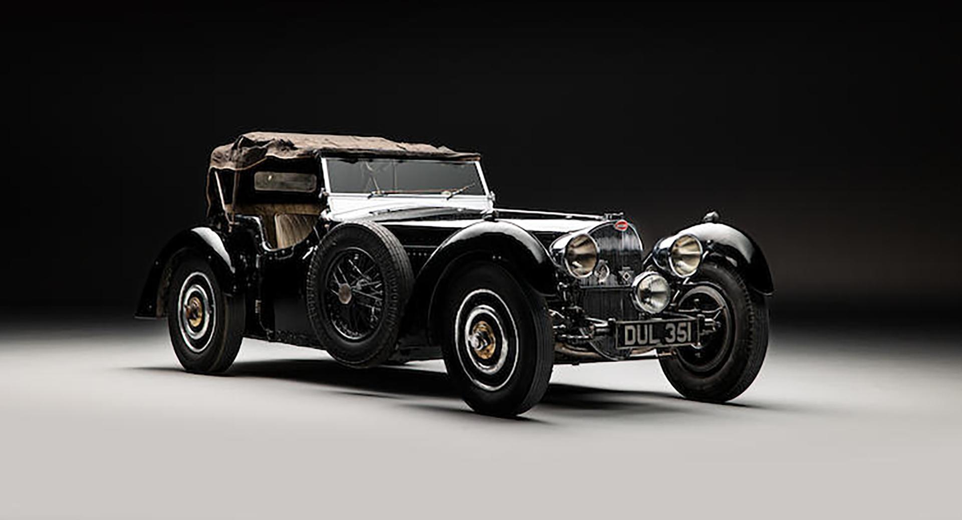 罕见的1937年布加迪57S型车被拍卖,被藏了50年