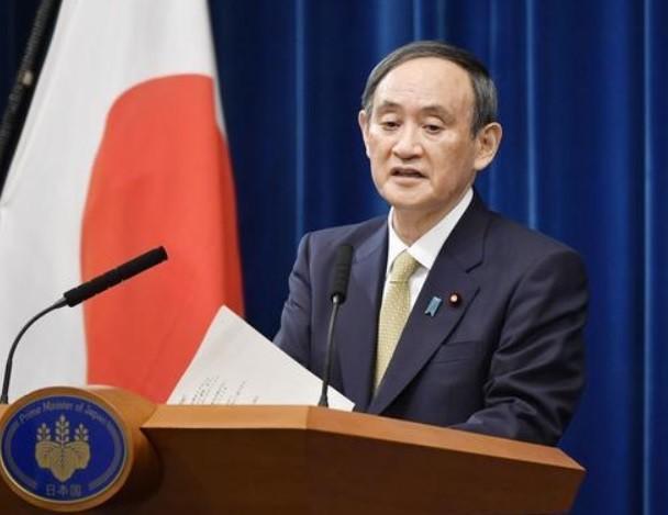 日本首相菅义伟与美国总统拜登举行电话会谈