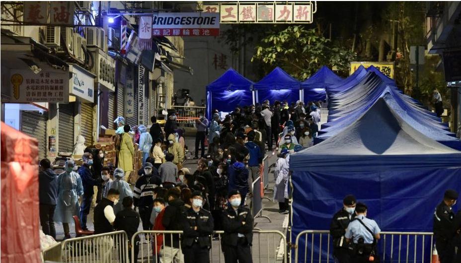 香港又有三个地区被突然袭击地封锁