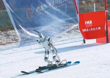 国内第一次机器人滑雪赛举行