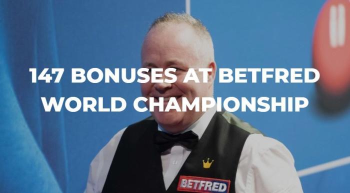 斯诺克世锦赛正赛打出147 最高可以获得5.5万英镑奖金